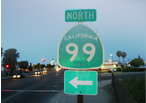 Highway 99, Delano, California