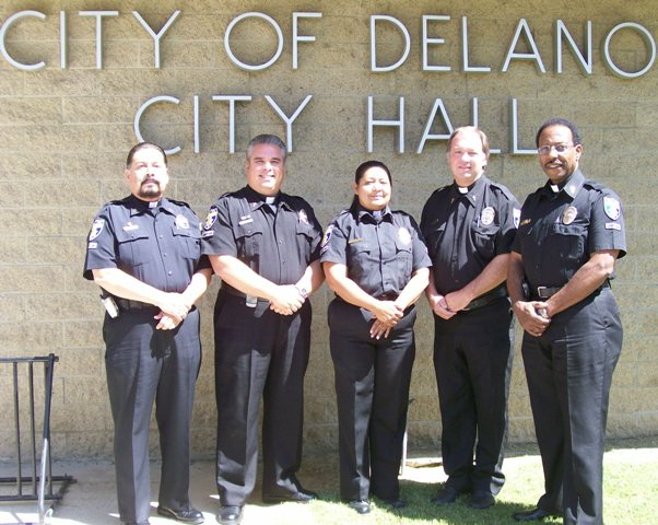 Delano Police Officers and Chaplain